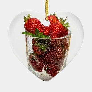 Strawberry Dessert Christmas Ornament