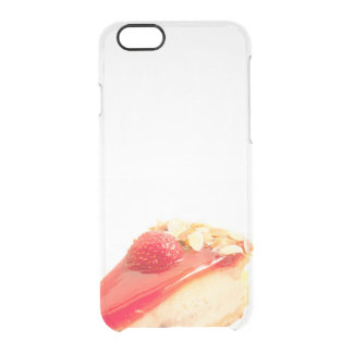 strawberry dessert clear iPhone 6/6S case