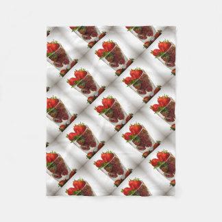 Strawberry Dessert Fleece Blanket