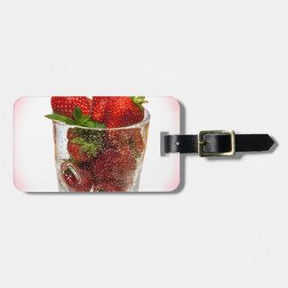 Strawberry Dessert Luggage Tag