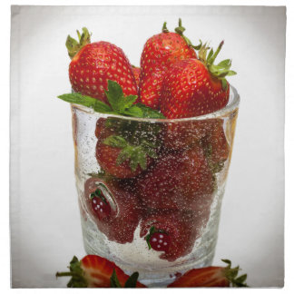 Strawberry Dessert Napkin