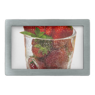 Strawberry Dessert Rectangular Belt Buckles