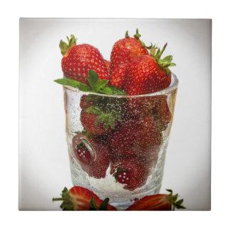 Strawberry Dessert Tile