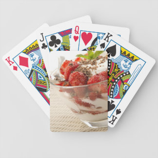 Strawberry Dessert With Fresh Yogurt Bicycle Playing Cards