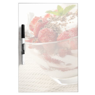 Strawberry Dessert With Fresh Yogurt Dry Erase Board