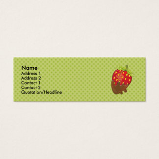 Strawberry dipped in chocolate mini business card