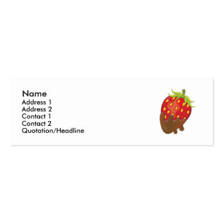 Strawberry dipped in chocolate pack of skinny business cards