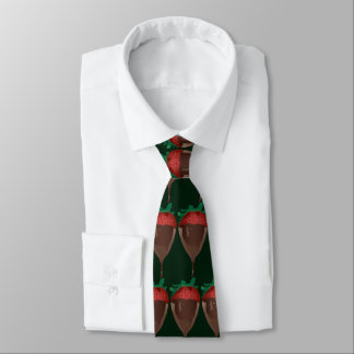 strawberry dipped in chocolate tie