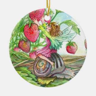 Strawberry Fairy Christmas Ornament
