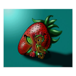 Strawberry Fairy Zuwena Poster Print