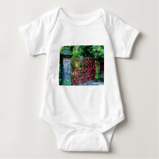 Strawberry Field Gates, Liverpool UK Baby Bodysuit