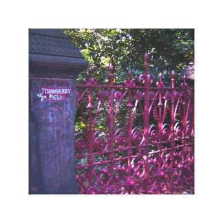 Strawberry Field Gates, Liverpool, UK. Canvas Print
