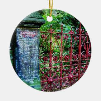 Strawberry Field Gates, Liverpool, UK. Christmas Ornament