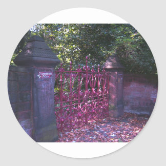 Strawberry Field Gates, Liverpool UK Classic Round Sticker