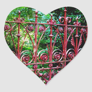 Strawberry Field Gates, Liverpool UK Heart Sticker