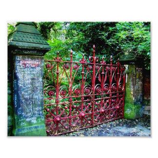 Strawberry Field Gates, Liverpool, UK. Photo Print