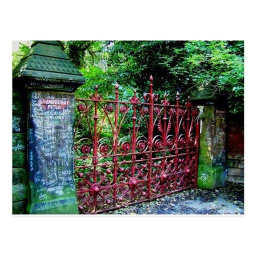 Strawberry Field Gates, Liverpool UK Post Card