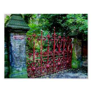 Strawberry Field Gates, Liverpool, UK. Posters