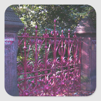 Strawberry Field Gates, Liverpool UK Square Sticker