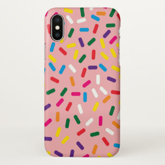 Strawberry Frosted Sprinkles iPhone X Case