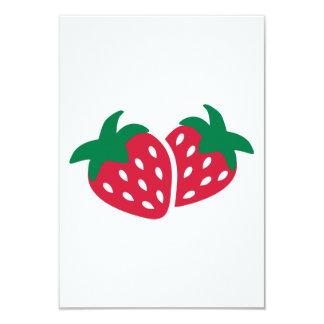 Strawberry Fruit 3.5x5 Paper Invitation Card
