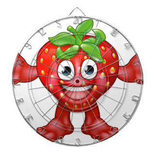 Strawberry Fruit Cartoon Character Mascot Dart Boards