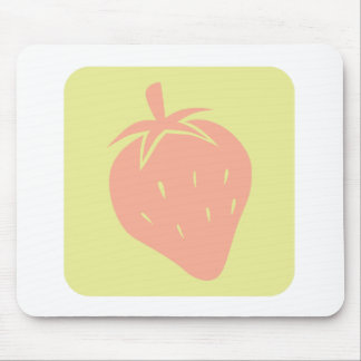 Strawberry Fruit Icon Mouse Pad