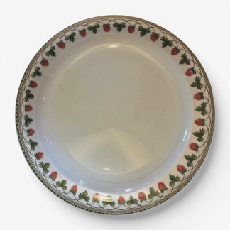 Strawberry Fruit, Wedgwood Etruria, c1900 Paper Paper Plate