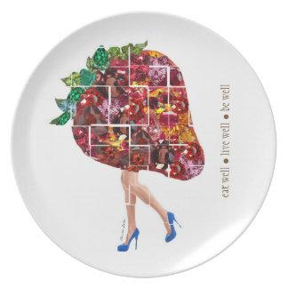 Strawberry Gems Plate