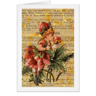 Strawberry Girl Greeting Card