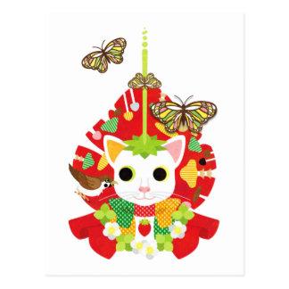Strawberry great fortune (Strawberry Daifuku) Postcard