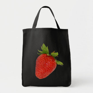 strawberry grocery tote bag