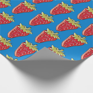 strawberry hand drawing cartoon style illustration wrapping paper