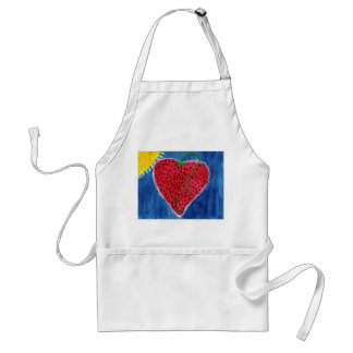 Strawberry heart apron