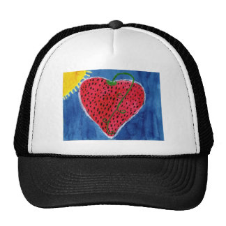 Strawberry heart hat