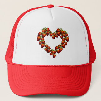 Strawberry Heart Trucker Hat