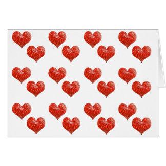 strawberry hearts card