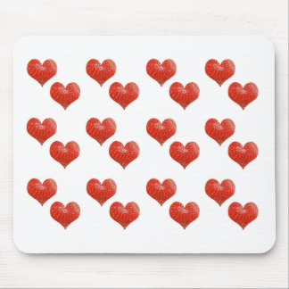 strawberry hearts mouse mat