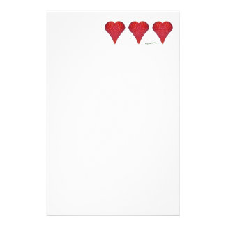 Strawberry Hearts Stationery
