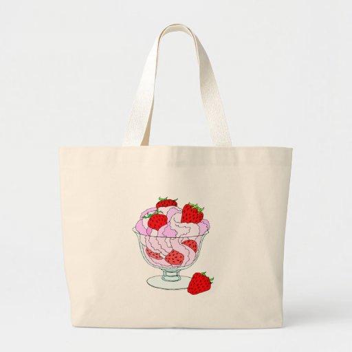 Strawberry Ice Cream Canvas Bag