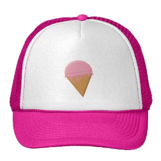 Strawberry Ice Cream Cone Trucker Hat