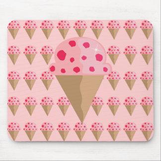 Strawberry Ice Cream Design Mousepad