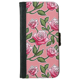 Strawberry Ice Rose Floral iPhone 6 Wallet Case
