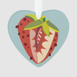 Strawberry illustration personalize ornament