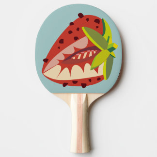 Strawberry illustration ping pong paddle