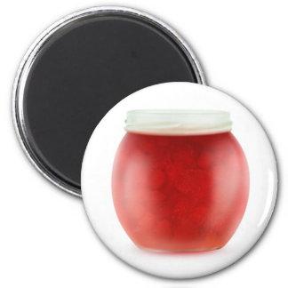 Strawberry jam 6 cm round magnet