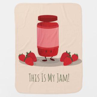 Strawberry Jam cartoon character | Baby Blanket