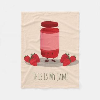 Strawberry Jam cartoon character | Fleece Blanket
