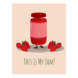 Strawberry Jam cartoon character | Postcard