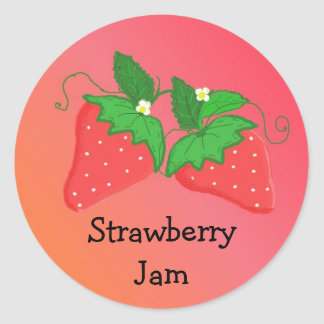 Strawberry Jam Classic Round Sticker